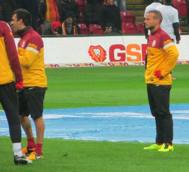 Sneijder op het veld
