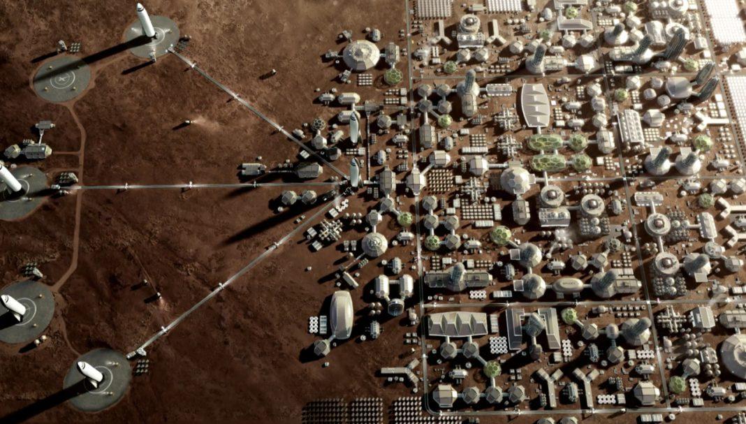 Stad op Mars